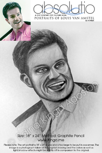 Absolutio - Louis van Amstel Portrait Series by Pencil Portrait Artist Edina Kinga Agoston